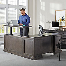 "Adjustable Height L-Desk with Right Return - 65""W, 8827451"