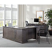 Adjustable Height L-Desk with Right Return and Credenza Set, 8827457
