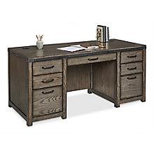 """Westgate Double-Pedestal Desk - 68""""W x 28""""D, 8828123"""