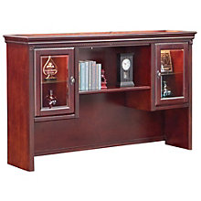 "Kathy Ireland Huntington Club Hutch with Glass Doors - 69""W, 8805052"