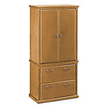 "Wheat Oak Wardrobe with File - 34""W, 8805063"