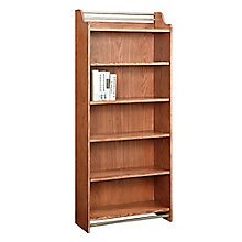 "Arcadia Six Shelf Bookcase with Metal Accents - 72""H, 8804243"