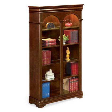 Ten Shelf Double Arched Bookcase 78h Officefurniture Com