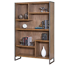 "Belmont Asymmetrical Seven Shelf Bookcase - 42""W x 66""H, 8801891"