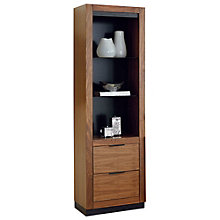 """Three Shelf Pier with Two Drawers and Glass Shelves - 72""""H, 8802188"""
