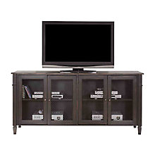 "Navarro Distressed Two Tone TV Console with Metal Mesh Doors - 72""W, 8803282"