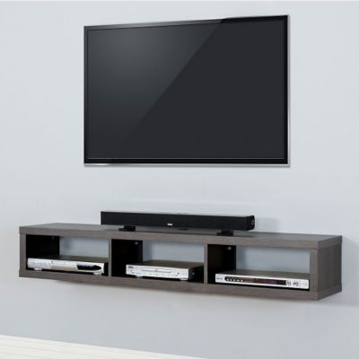 60 shallow wall mount tv component shelf 8826807 officefurniture com rh officefurniture com wall mounted tv and component shelf combo asymmetrical wall mounted tv component shelf uk