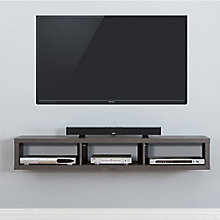 "60"" Shallow Wall Mount TV Component Shelf, 8826807"