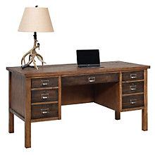"""Heritage Half Pedestal Desk - 60""""W, 8804534"""