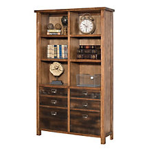 "Heritage Ten Shelf Bookcase with Doors - 72""H, 8804536"