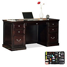 Fulton Compact Executive Desk with Grid-It Desk Organizer, 8804564