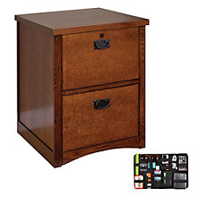 Mission Pasadena Two Drawer Vertical File with Grid-It Desk Organizer, 8804572