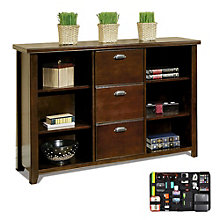 Tribeca Loft Cherry Bookcase File with Grid-It Desk Organizer, 8804573