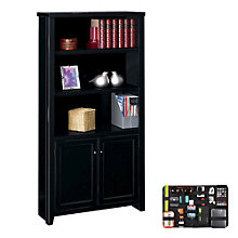 Five Shelf Bookcase with Doors and Grid-It Desk Organizer, 8804576