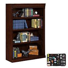 Huntington Club Four Shelf Bookcase with Grid-It Desk Organizer, 8804577