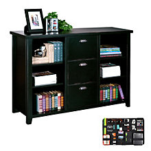 Three Drawer File and Bookcase with Grid-It Desk Organizer, 8804579