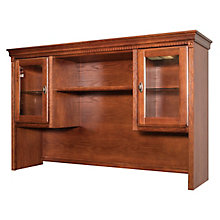 "Huntington Burnished Oak Hutch with Glass Doors and Touch Lighting - 69""W, 8825930"