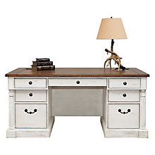 "Durham Double Pedestal Executive Desk - 66""W, 8827214"