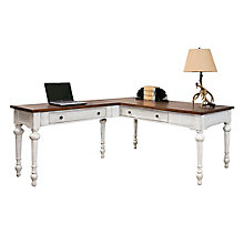 "Durham Reversible L-Shaped Writing Desk- 64""W, 8827503"