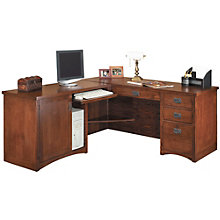 Mission Pasadena L-Desk with Left Return, OFG-LD1126