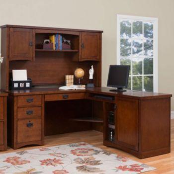Brilliant Mission Pasadena L Desk With Hutch Officefurniture Com Home Interior And Landscaping Ponolsignezvosmurscom