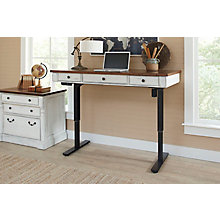 Durham Adjustable Height Desk and Lateral File Set, 8827502