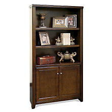 Tribeca Loft Cherry Bookcase with Lower Doors, MRN-TLC3670D