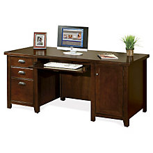 "Tribeca Loft Cherry Computer Desk - 32""D, MRN-TLC685"