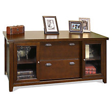 Tribeca Loft Cherry Glass Door Storage Credenza, MRN-TLC687