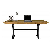"""Writing Table Desk with Cast Metal Base - 72""""W, 8825664"""