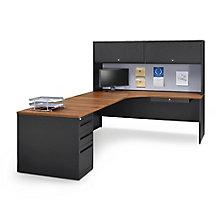 Carbon L-Desk with Hutch - Left Return, 8829116