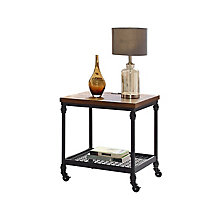 "Mesh-Wired End Table with Power Unit- 22""W x 22""D, 8827129"