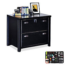Tribeca Loft Black Two Drawer Lateral File with Grid-It Desk Organizer, 8804566