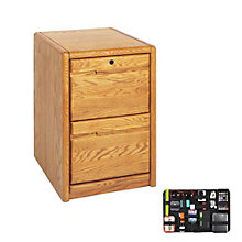 Two Drawer Vertical File with Grid-It Desk Organizer, 8804578