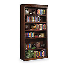 "Burnished Oak Six Shelf Bookcase - 72""H, MRT-HO3672B"