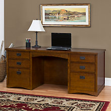 Mission Oak Executive Desk, MRT-MO680M