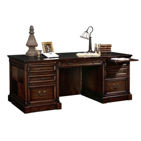 Close up of executive desk