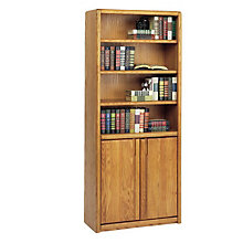 Medium Oak Bookcase with Doors, MRT-OO3070D