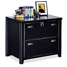 "Tribeca Loft Black Two Drawer Lateral File - 30"" W, MRT-TL450"
