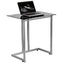 Black, Silver computer desk, 8812273