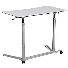 Sit-Down, Stand-Up Grey Desk, 8812279