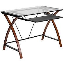 Glass Top computer desk, 8812294