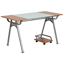 Glass and Laminate Desk, 8812312