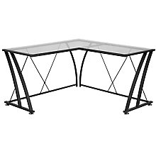 Glass L-Shape Desk, 8812318