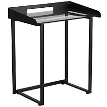 Desk with Clear Tempered Glass, 8812326