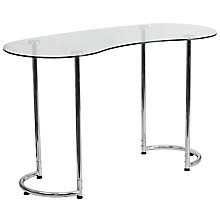 Desk with Clear Tempered Glass, 8812327