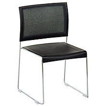 Modern Stack Chair with Plastic Seat and Mesh Back, 8804316