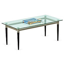 "Glass Top Coffee Table - 40""W x 20""D, 8814235"