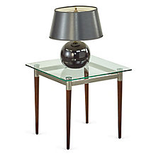 "Glass Top End Table - 22""W x 22""D, 8814237"