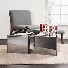 Echo Smoky Mirrored Side Table, 8820861